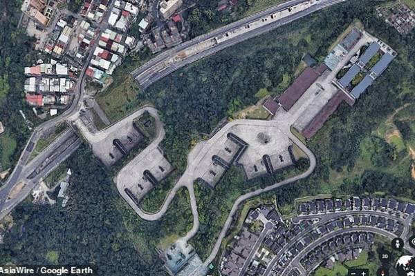 taiwan bases militares google earth