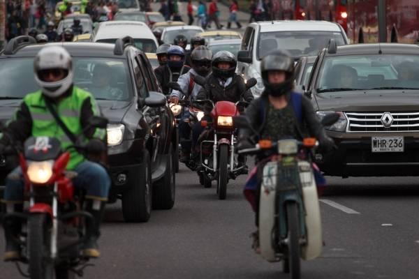 Pico y placa para motos en Bogotá