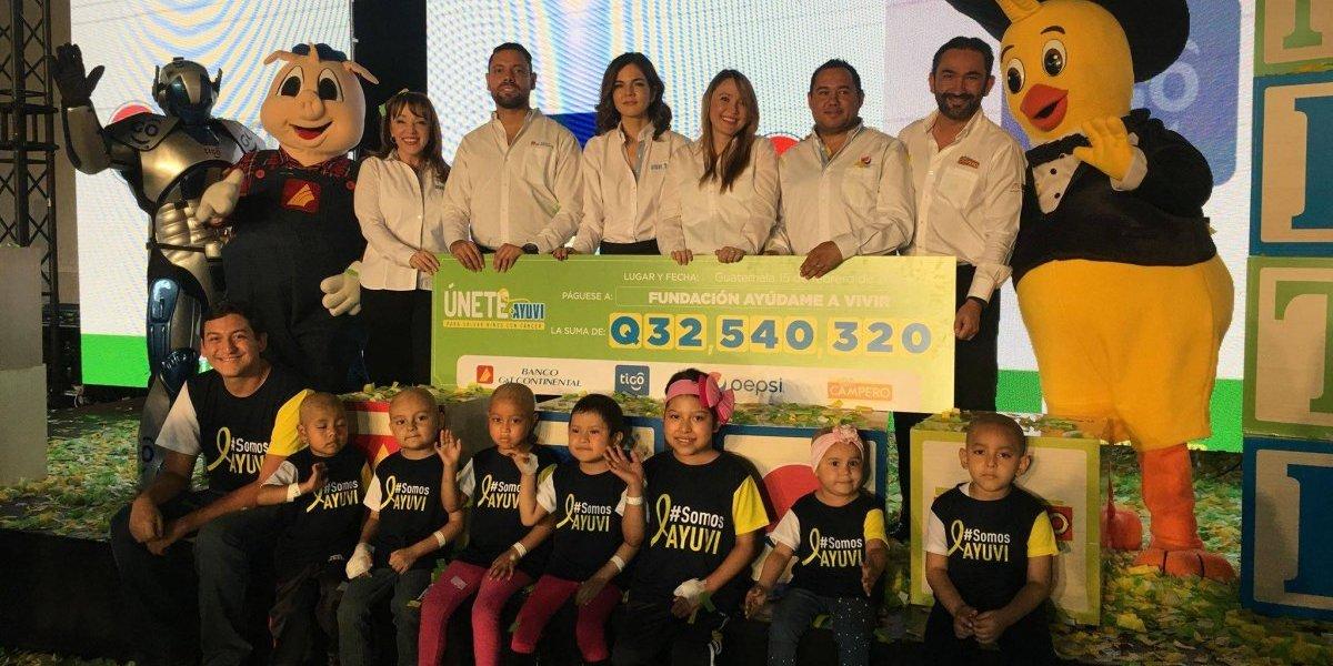 Recaudación de Q32 millones será utilizada para salvar a niños con cáncer