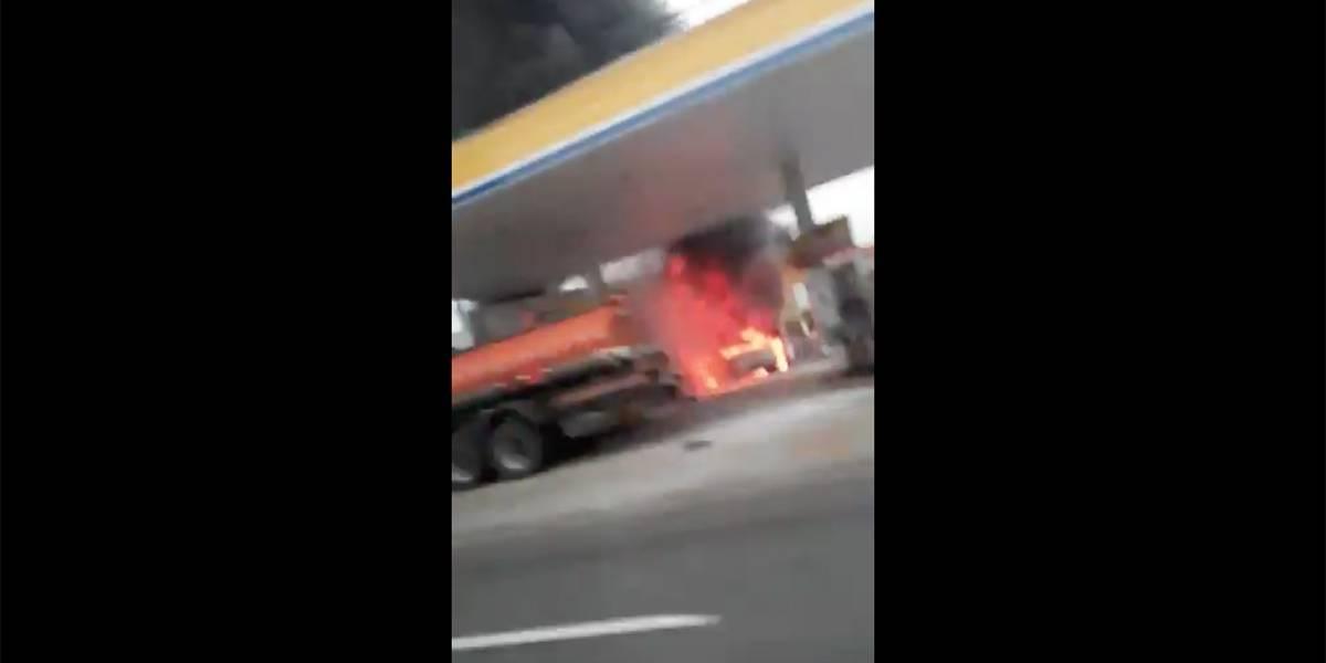 Incêndio atinge posto na zona sul de São Paulo