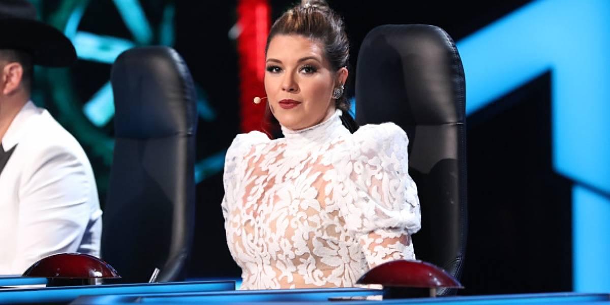 Alicia Machado, exMiss Universo sufrió una caída en pleno programa en vivo