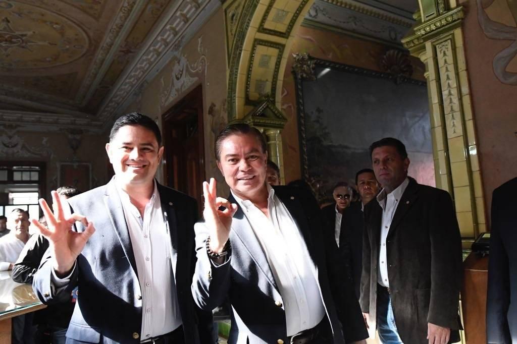 Mario Estrada y Otto Castillo, binomio presidencial de UCN Foto: Omar Solís