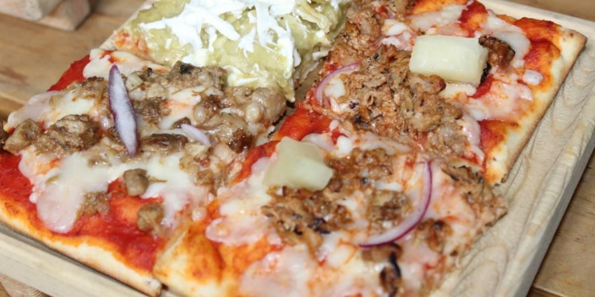 Pizza de chilaquiles, tripa, pastor y otras exóticas variedades en la CDMX