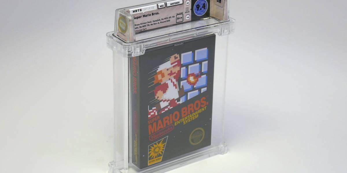 Cópia de Super Mario Bros para o NES é vendida por mais de 100 mil dólares