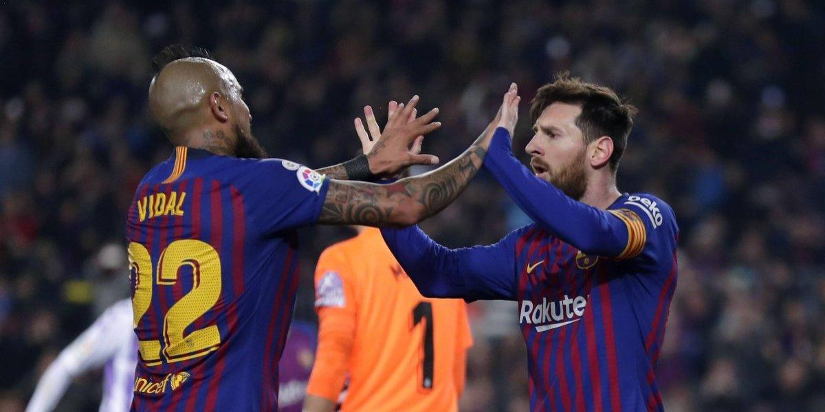 El Barcelona de Vidal sólo pudo vencer a Valladolid con un discutido penal