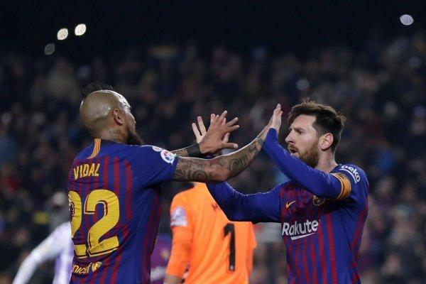Vidal festejó en un discreto partido / imagen: AP