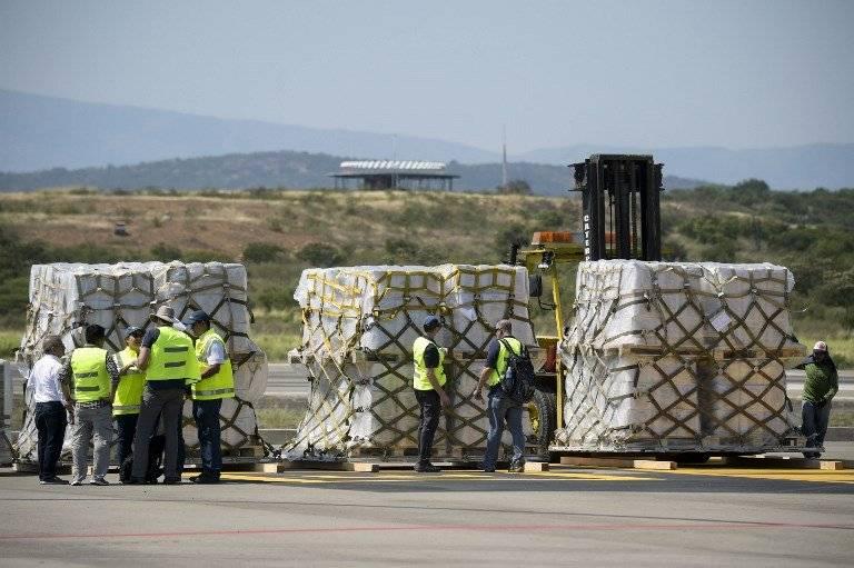 Ayuda humanitaria llega a Venezuela AFP