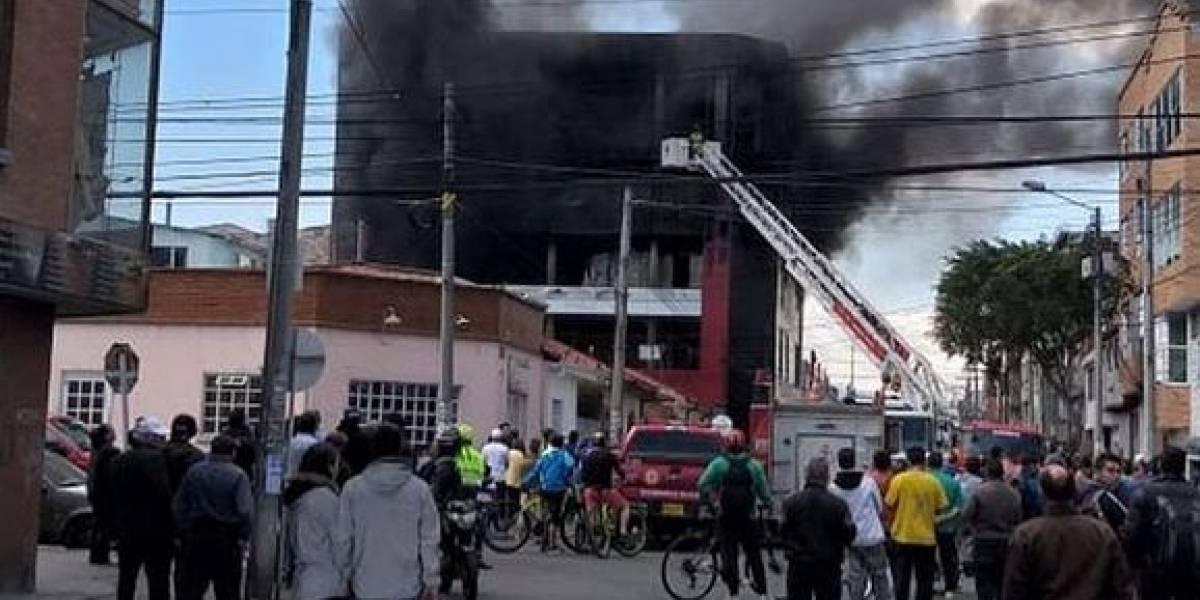 ¡Atención! Reportan grave incendio en Chapinero