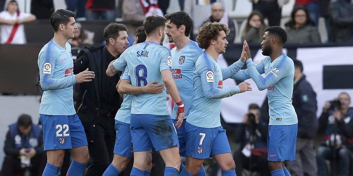 ¿Y el VAR? Atlético de Madrid sufrió para vencer con polémica al Rayo Vallecano
