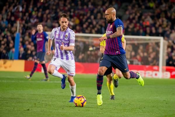 Arturo Vidal jugó los 90 minutos en la victoria 1-0 de Barcelona Sobre Valladolid / Foto: Photosport