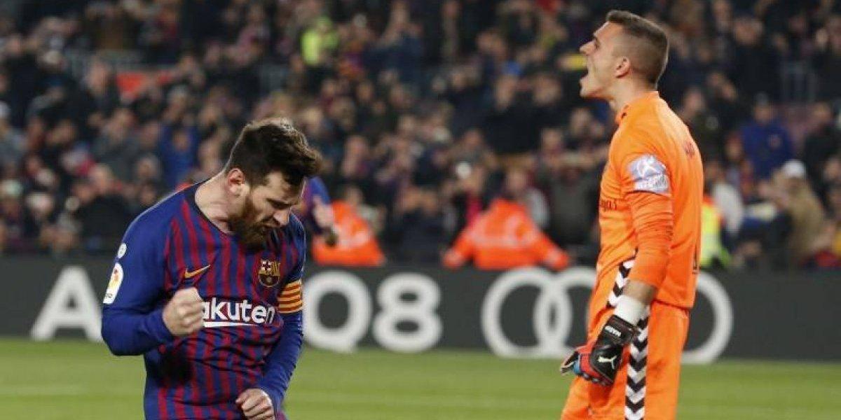 Un penalti de Messi le da el triunfo al Barcelona