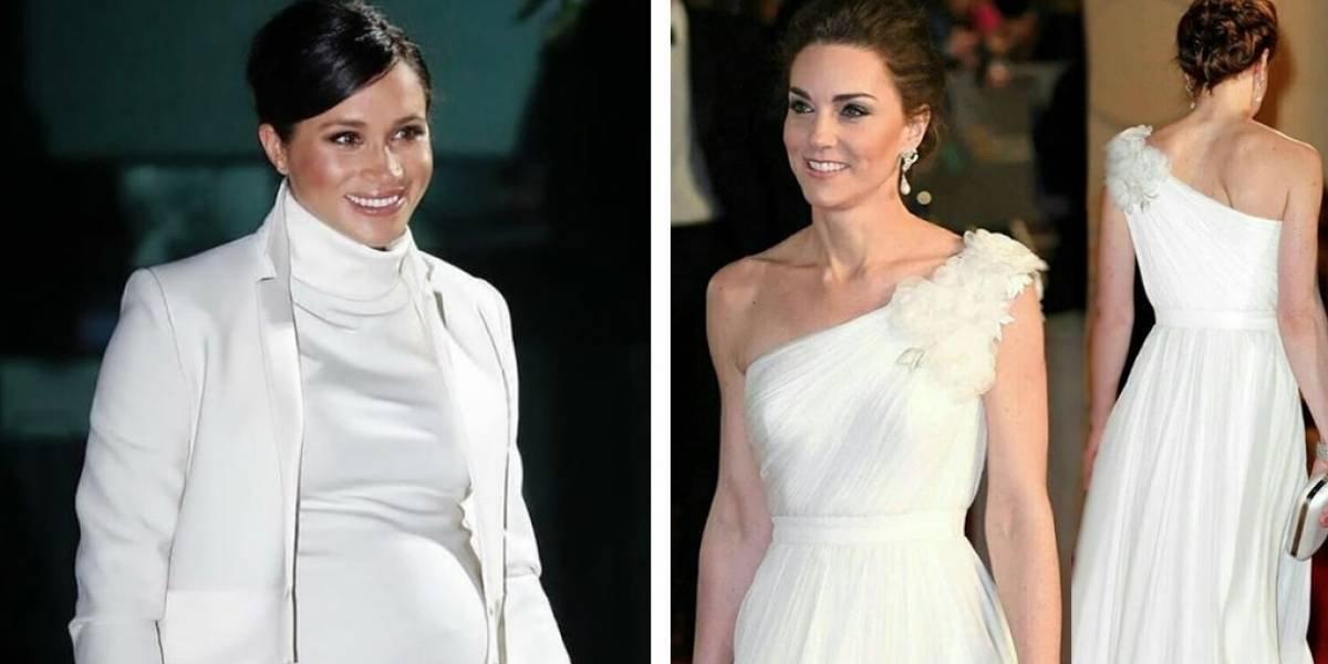 Meghan Markle y Kate Middleton dejan un mensaje oculto al vestirse solo de blanco
