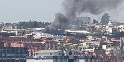 Quito: Incendio estructural en el sector El Dorado
