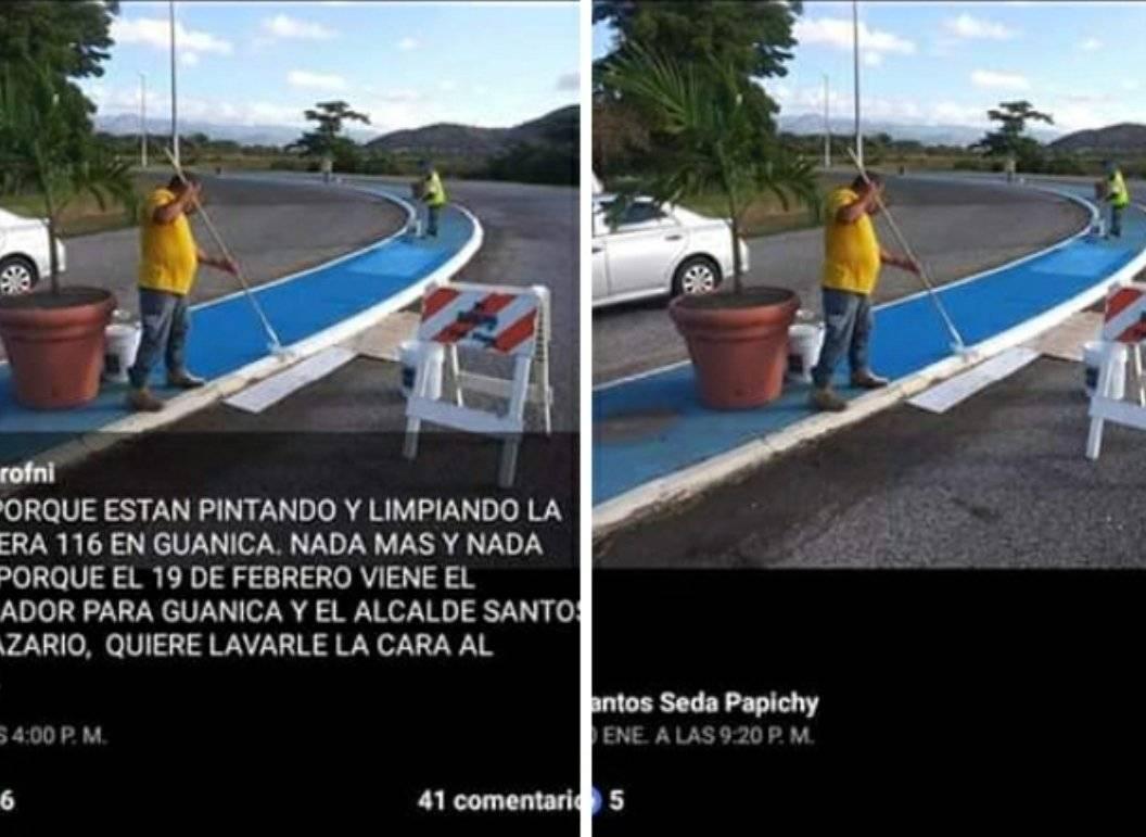 Pintando líneas - Guánica