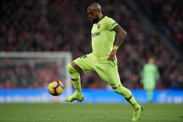 Arturo Vidal verá acción en el duelo de este martes cuando Barcelona visite al Lyon por los octavos de final de la Champions League. / Getty Images