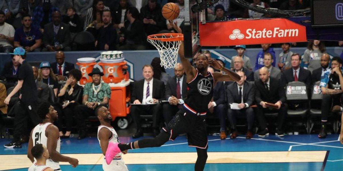 NBA: Un espectacular Durant guió a LeBron en la remontada sobre Giannis en el All Star Game
