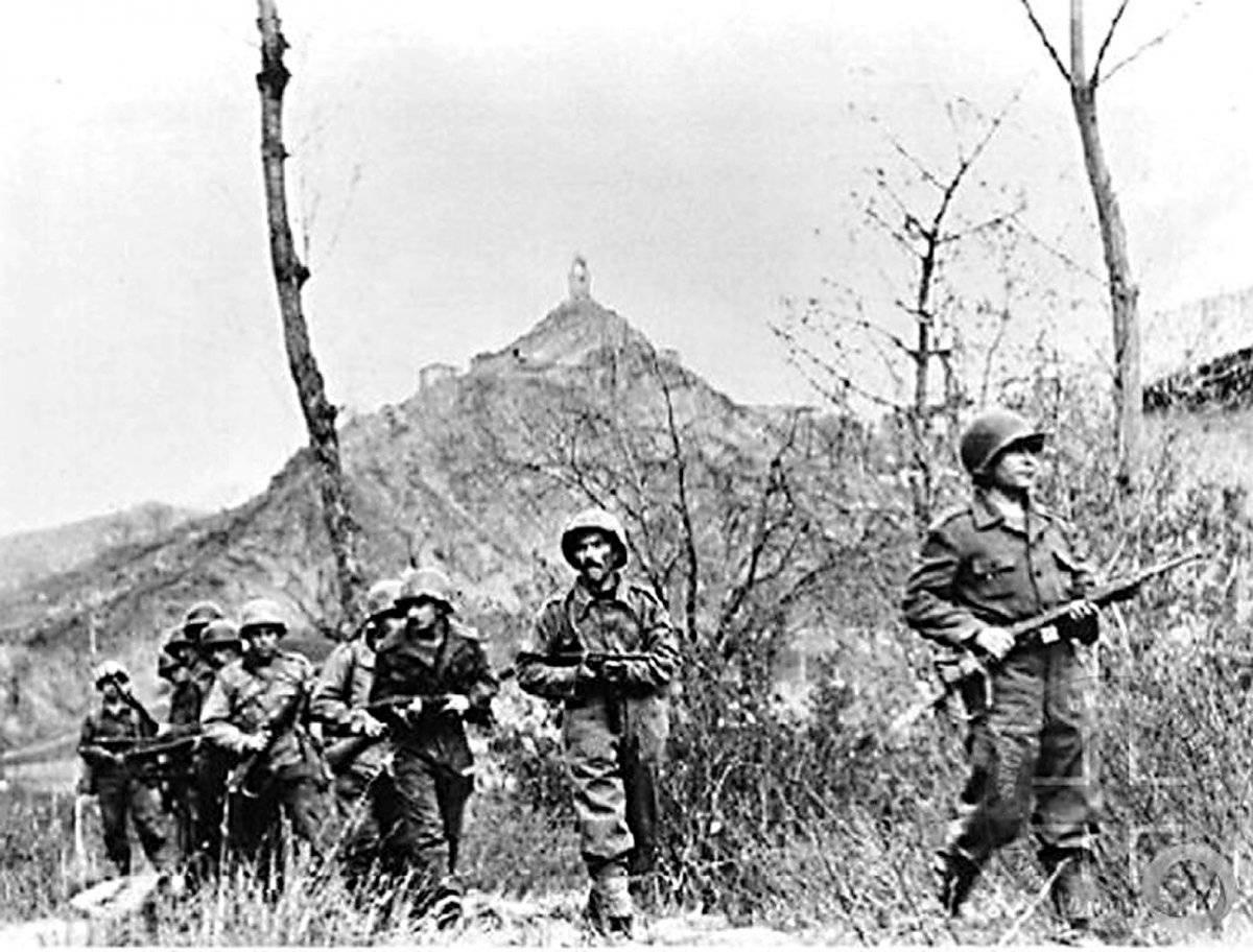 Integrantes da FEB em Torre di Nerone, perto de Monte Castelo Arquivo/Exército brasileiro