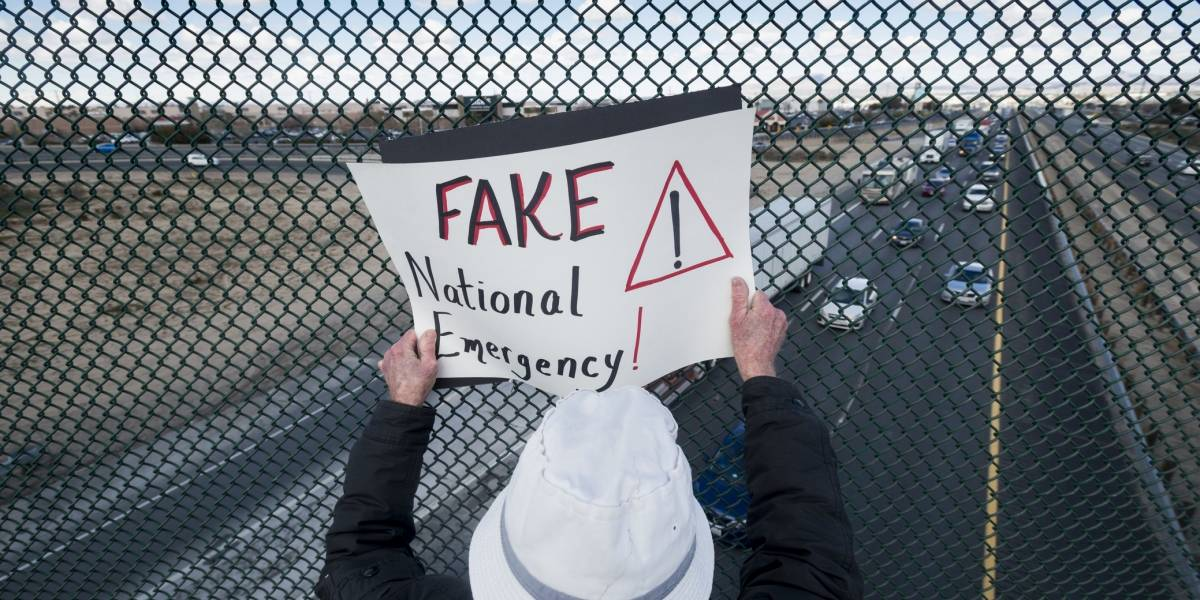 6 de cada 10 estadounidenses desaprueban 'Emergencia nacional' de Trump