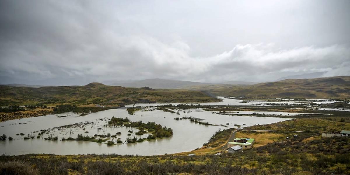 Alerta amarilla en Torres del Paine por riesgo de desbordamiento del río