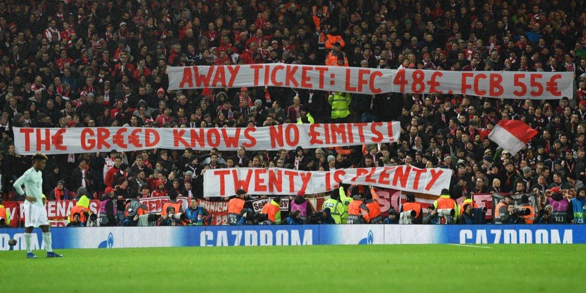 """""""La codicia no sabe de límites"""": La protesta de los hinchas del Bayern por el precio de las entradas en Champions"""