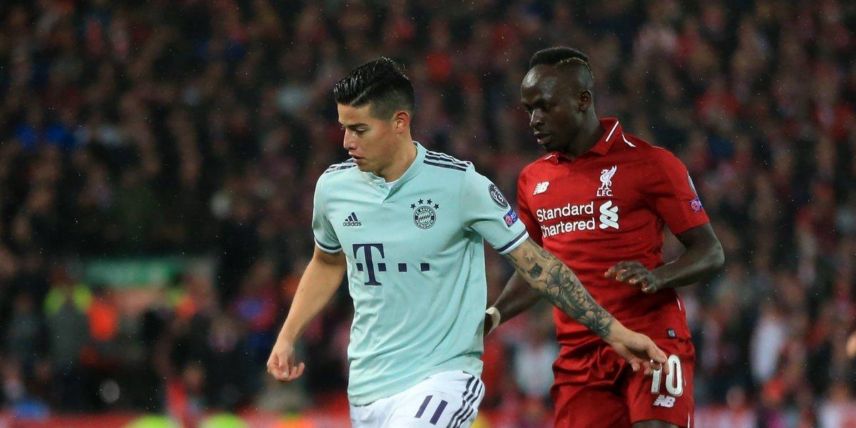 ¡DeJames soñar! Bayern sacó un valioso empate en Anfield