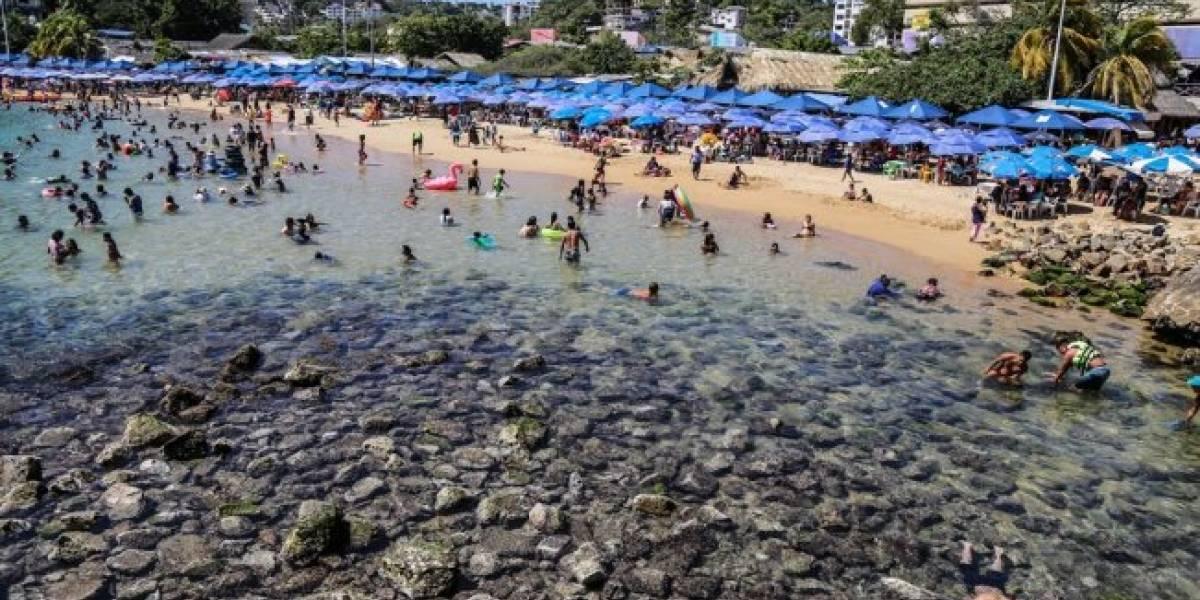 La explicación de porque el mar se alejó de las playas de Acapulco