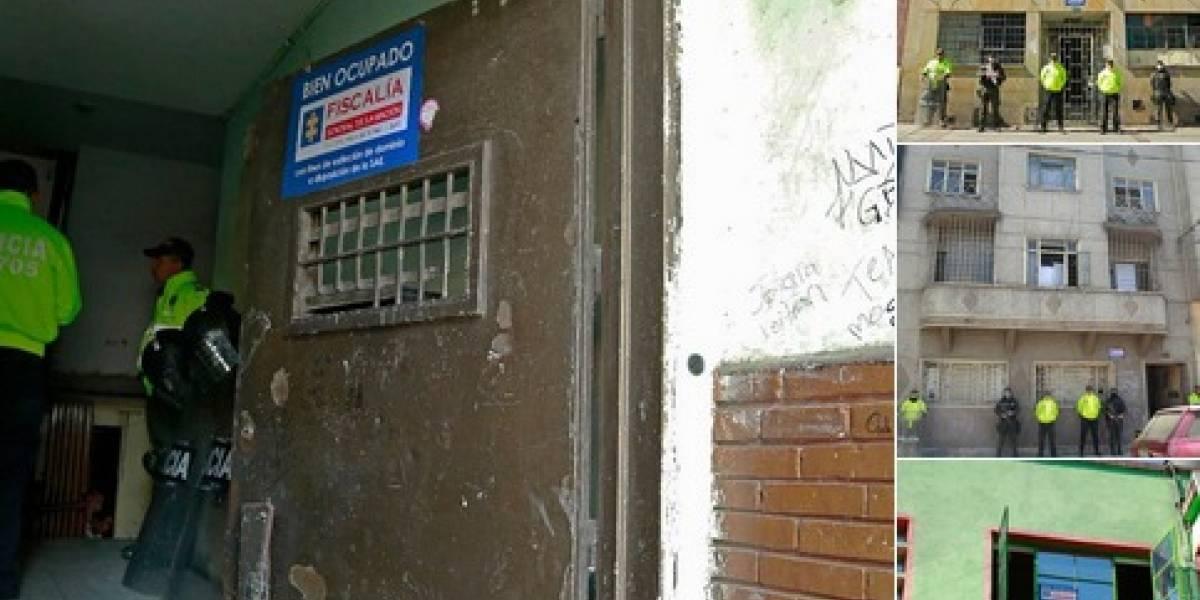 Ocupan 11 predios de tráfico de droga en el centro de Bogotá