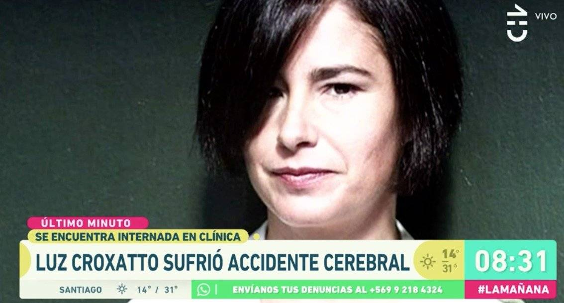 Tras accidente cerebrovascular informan estado de salud de Luz Croxatto