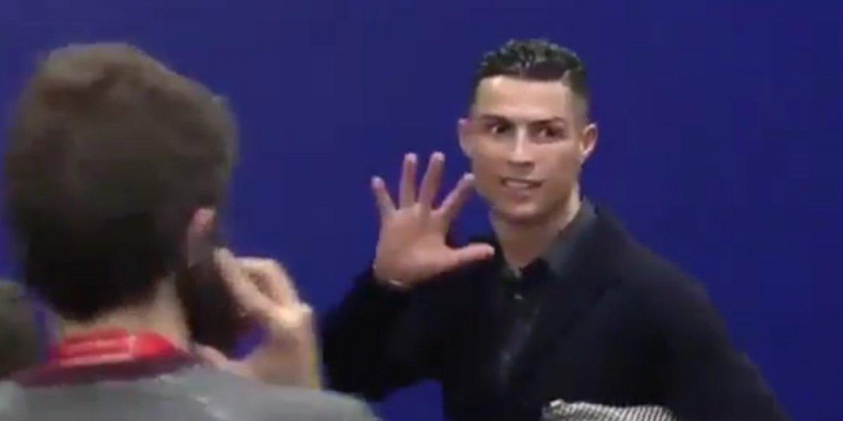 Cristiano Ronaldo recuerda que tiene cinco Champions y el Atleti cero