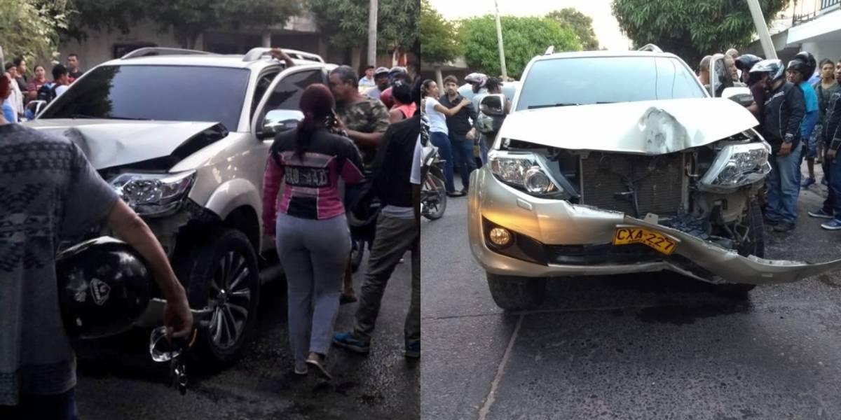 Cantante de vallenato sufrió grave accidente de tránsito en Valledupar