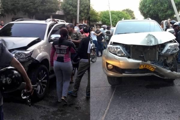 Ana del Castillo sufrió grave accidente de tránsito en Valledupar