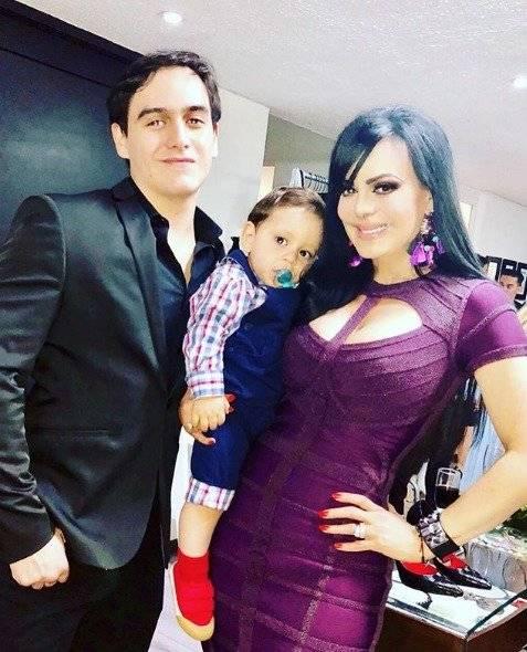 Maribel Guardia y su nieto