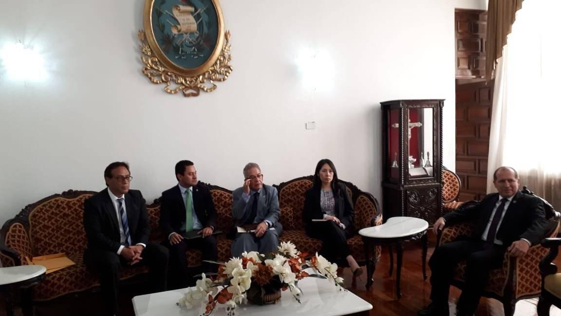 Reunión del 19 de febrero entre jueces y presidente del OJ por nombramiento de Roberto Mota. Foto: OJ