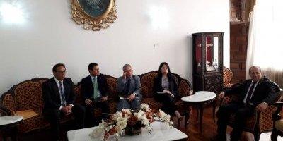 Reunión de jueces y presidente del OJ por nombramiento de Roberto Mota Bonilla.