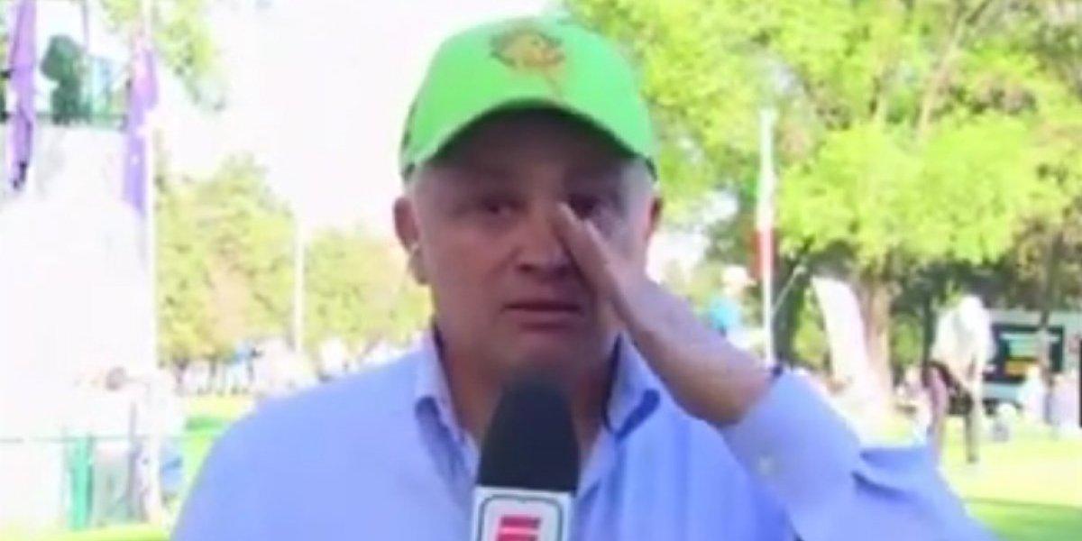 John Sutcliffe llora en plena transmisión por culpa Tiger Woods