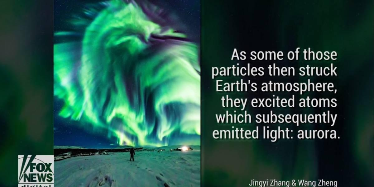 NASA capta imagem misteriosa de aurora em formato de 'dragão'