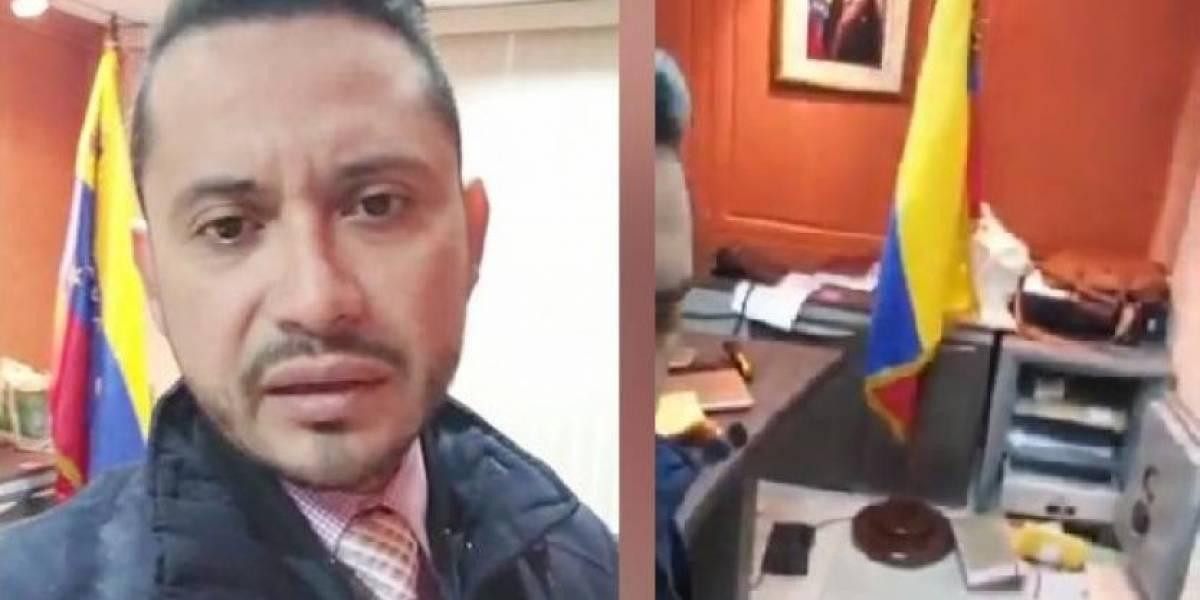 Banda armada asalta entre insultos el consulado de Venezuela en Guayaquil