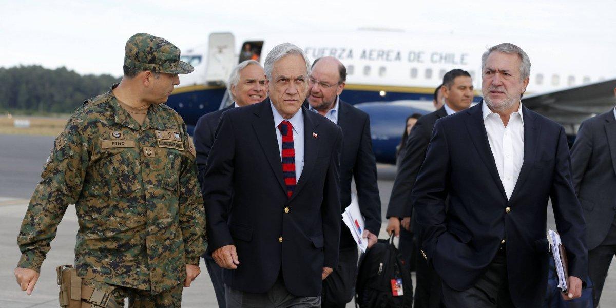 Presidente Piñera visitará La Araucanía y Los Lagos este jueves