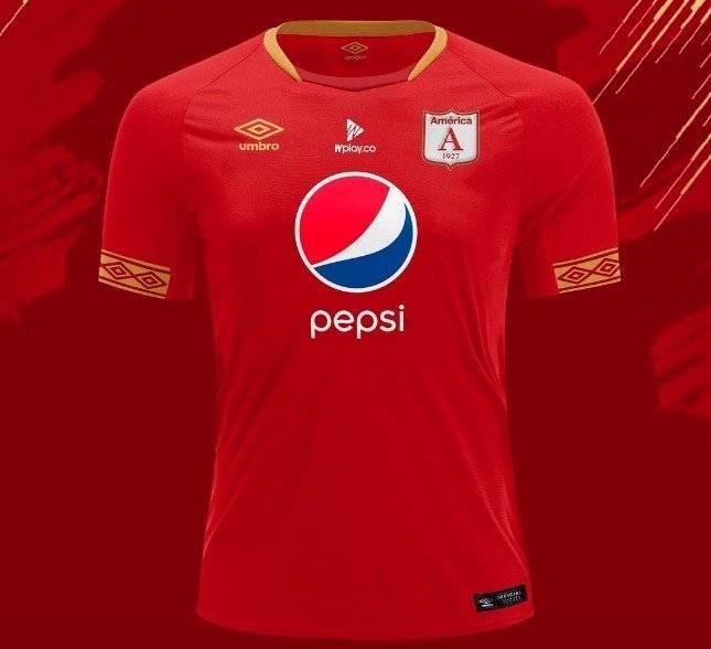 Camiseta América 2019 con dorado