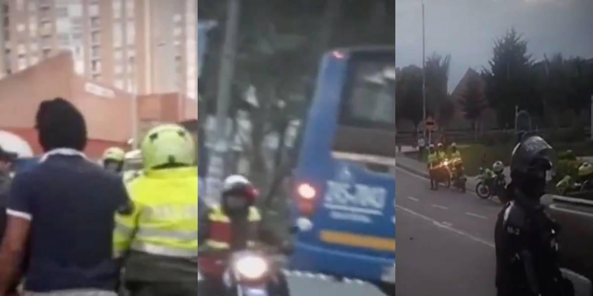 Graves disturbios en Usaquén por operativo contra el transporte informal