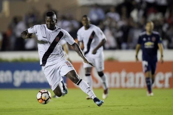 Duvier Riascos, pretendido por la UC, jugó por Vasco da Gama ante la U en la Copa Libertadores 2018 / Foto: Getty Images