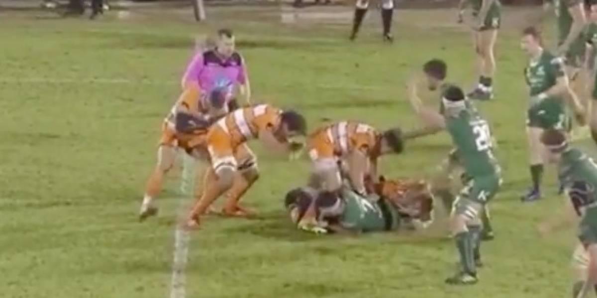 VIDEO: Jugador de rugby comete la acción más asquerosa del mundo deportivo