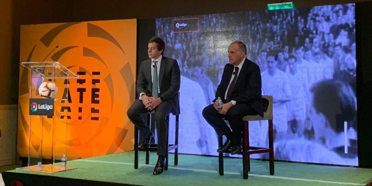 'En España tienen mucha expectativa en Lainez': Javier Tebas, presidente de La Liga