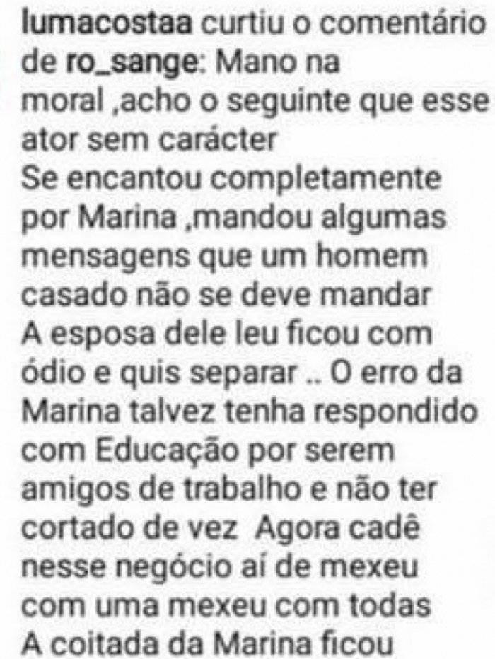 José loreto marina ruy barbosa traição