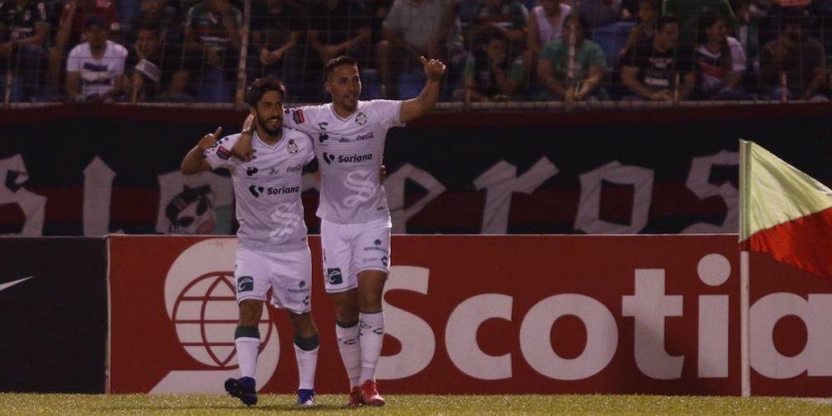 Santos golea al Marathón y pone un pie en los cuartos de la Concachampions