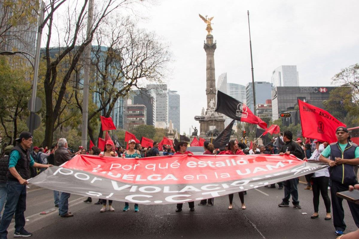 Huelga UAM. Foto: Cuartoscuro