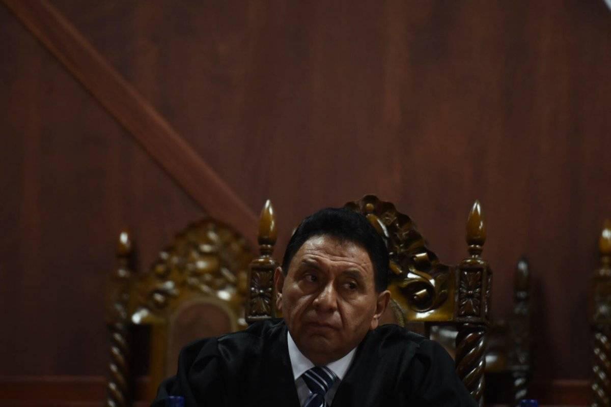Francisco de Mata Vela, magistrado de la Corte de Constitucionalidad (CC). Foto: Edwin Bercián