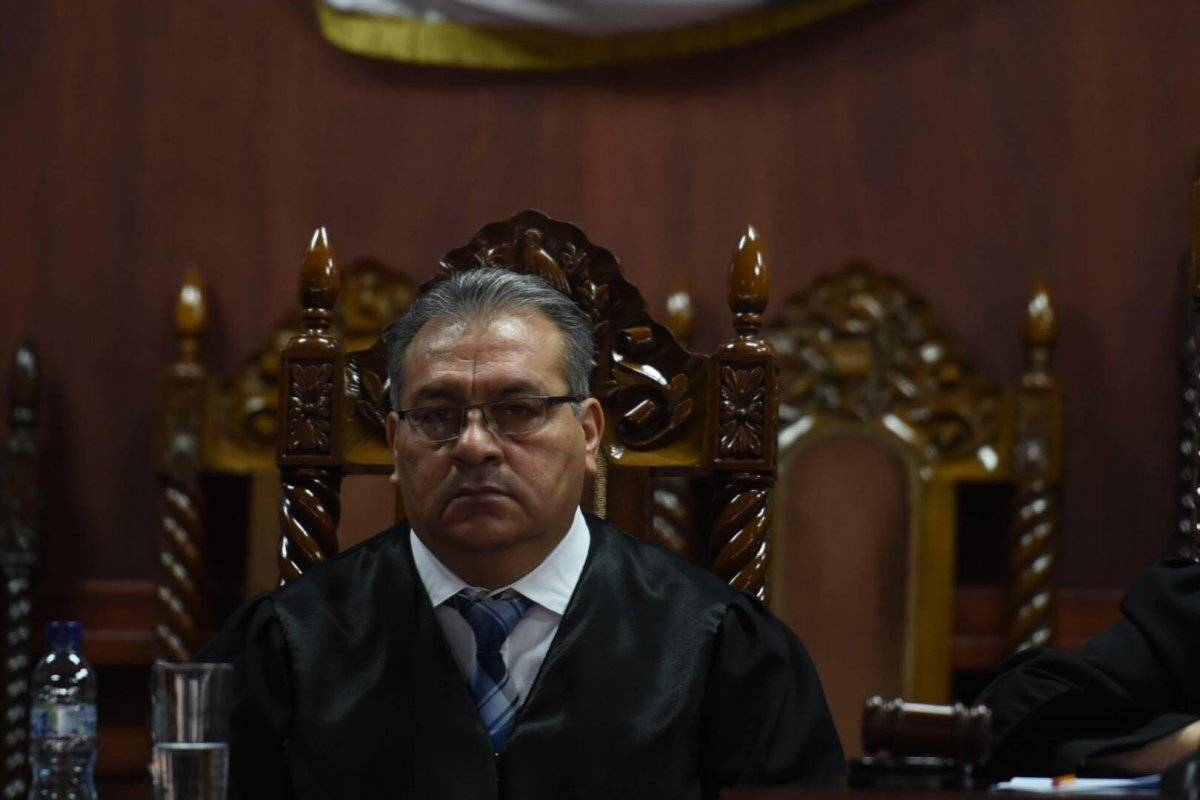 Bonerge Mejía, magistrado de la Corte de Constitucionalidad (CC). Foto: Edwin Bercián