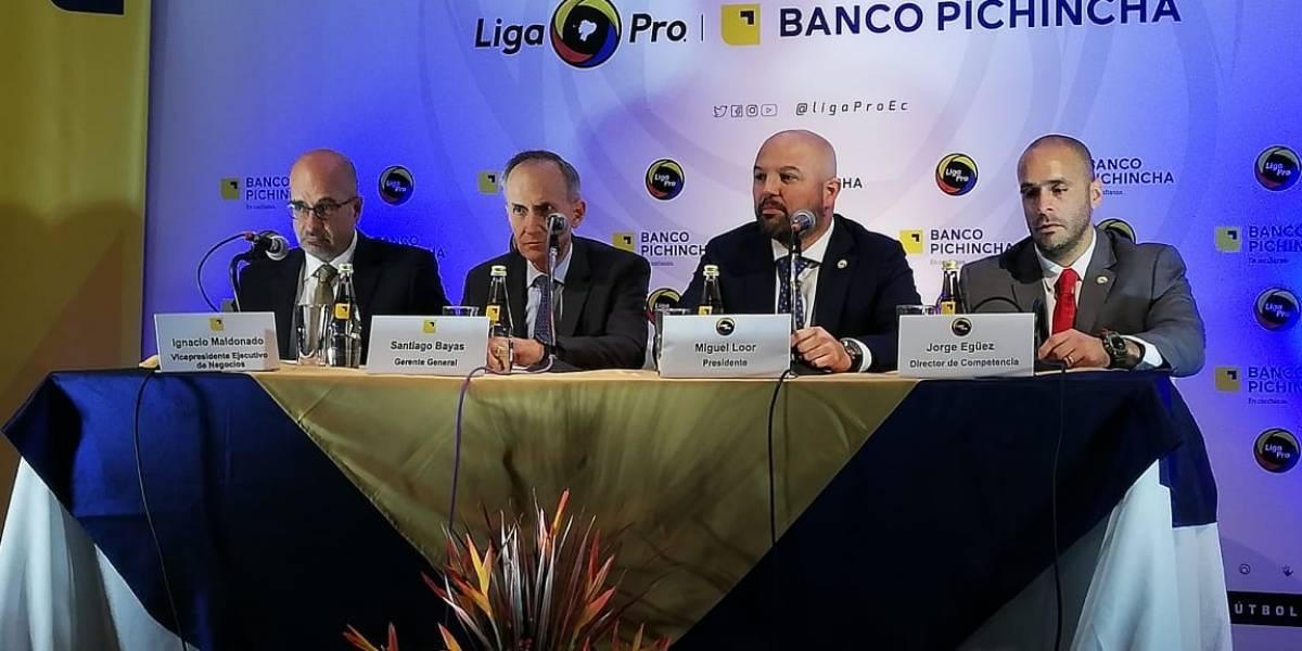 Banco Pichincha será el auspiciante de la Liga Pro hasta el 2021