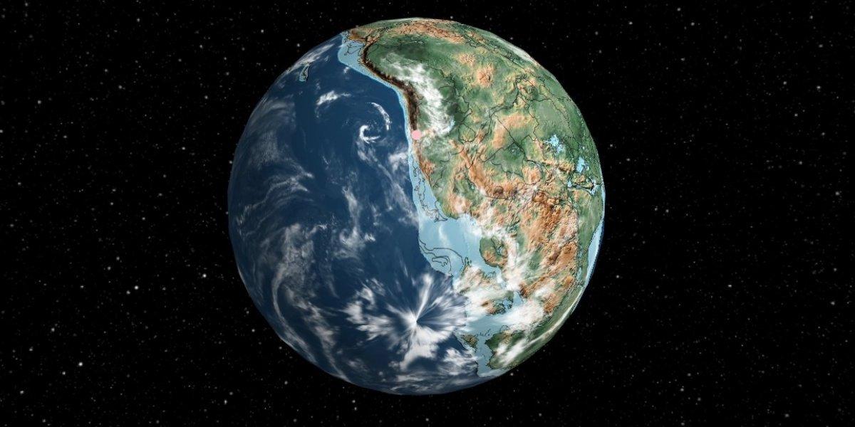 ¿Cómo se veía la Tierra antes del hombre?: impresionante mapa virtual muestra dónde estaba tu ciudad hace 750 millones de años